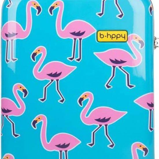 BHPPY Handbagage koffer 55 cm - Go Flamingo