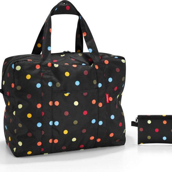 Reisenthel Mini Maxi Touringbag Reistas - Opvouwbaar - 40L - Dots Zwart